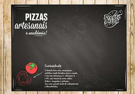 Design Gráfico Presto Pizza